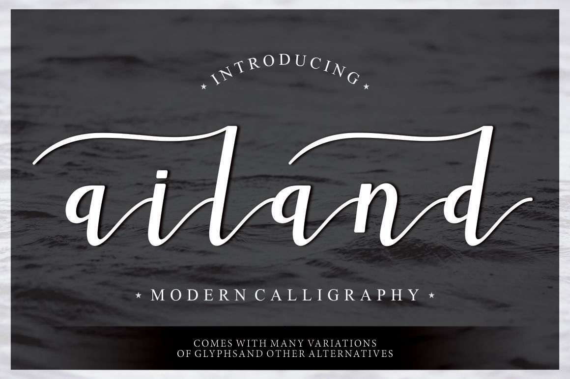 Print on Demand: Ailand Script & Handwritten Font By Musafir LAB