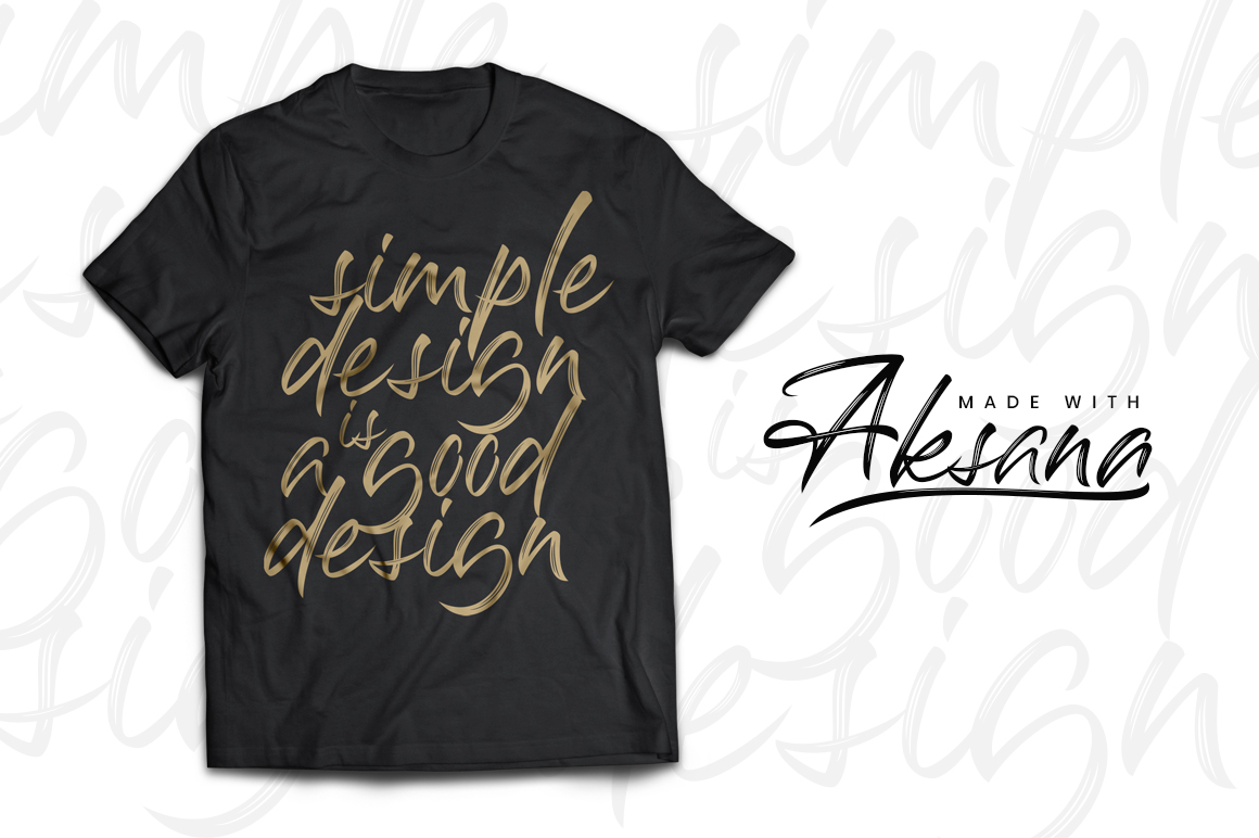 Print on Demand: Aksana Script & Handwritten Font By CreatypeStudio - Image 2