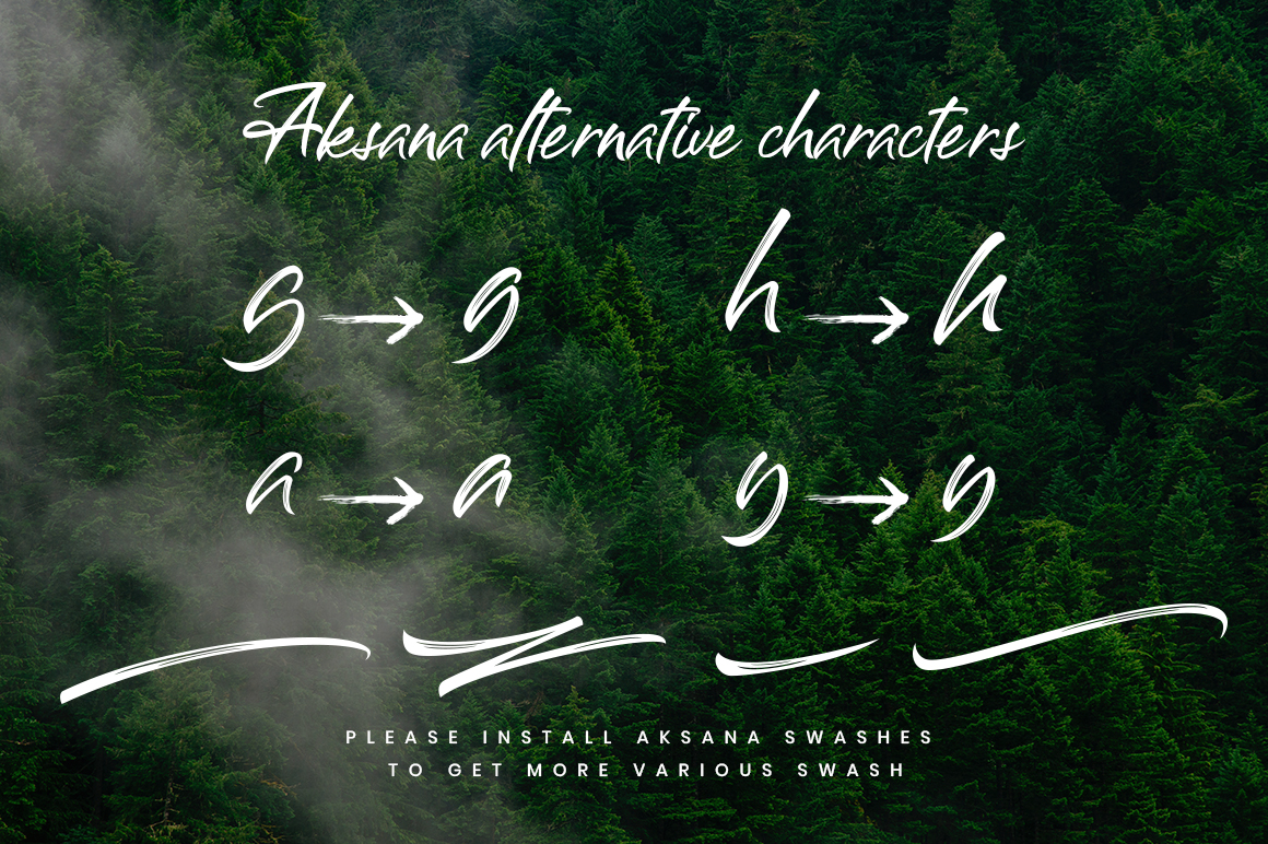 Print on Demand: Aksana Script & Handwritten Font By CreatypeStudio - Image 5