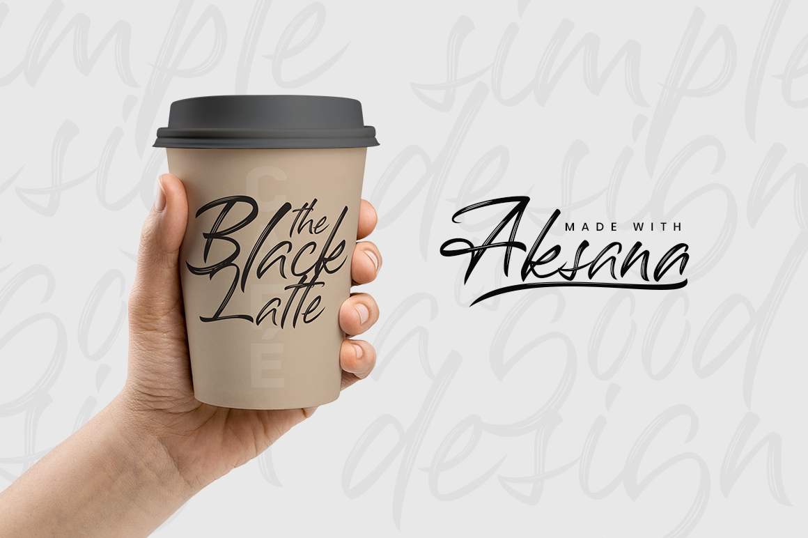 Print on Demand: Aksana Script & Handwritten Font By CreatypeStudio - Image 8