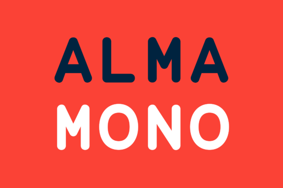 Print on Demand: Alma Mono Sans Serif Font By daniel.feldt