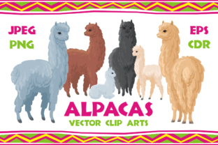 Download Free Alpacas Vector Clip Arts Graphic By Olga Belova Creative Fabrica for Cricut Explore, Silhouette and other cutting machines.