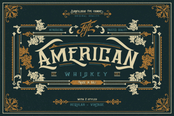 Print on Demand: American Whiskey Serif Font By Burntilldead