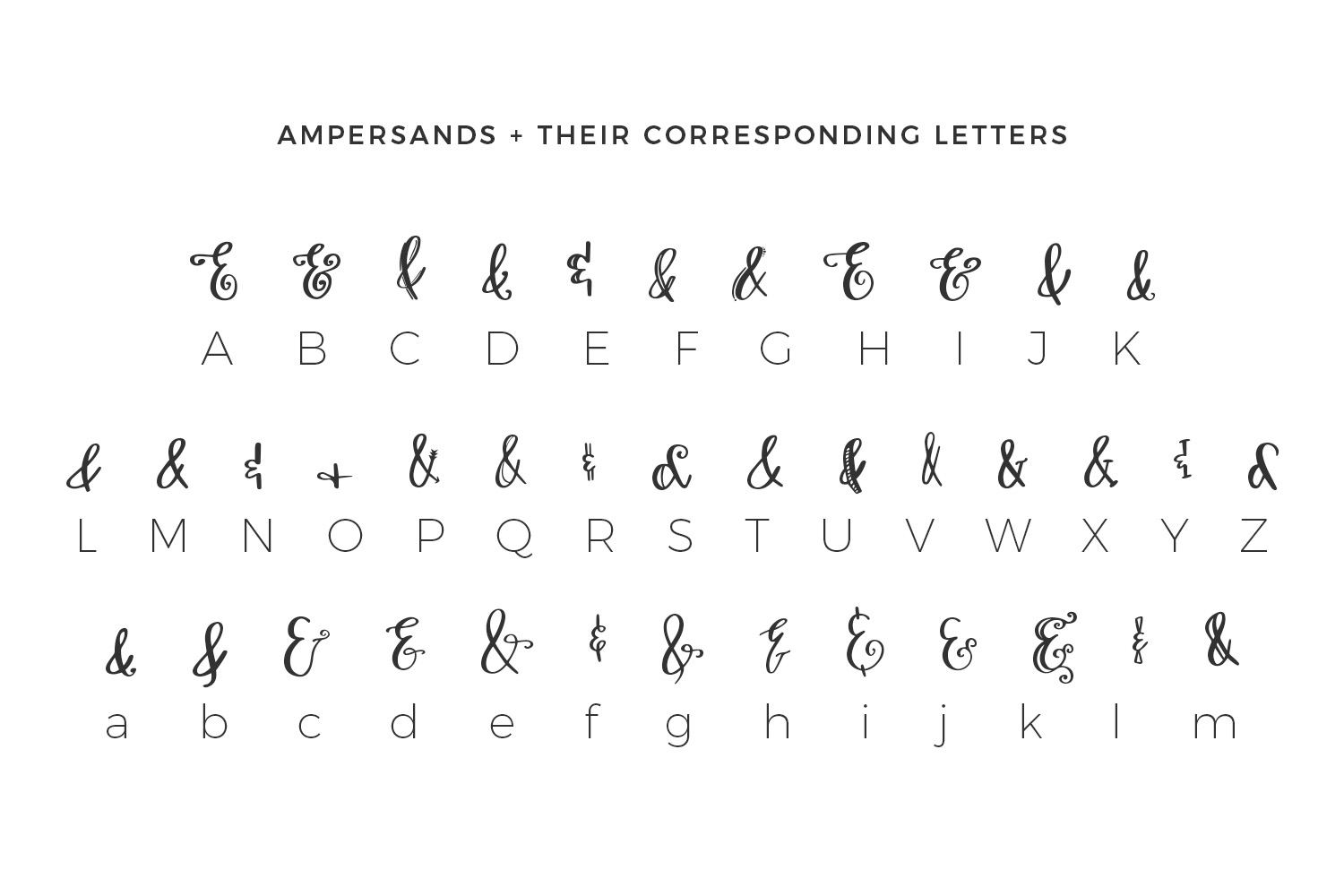 Print on Demand: Ampersand Mania Dingbats Font By BeckMcCormick - Image 2