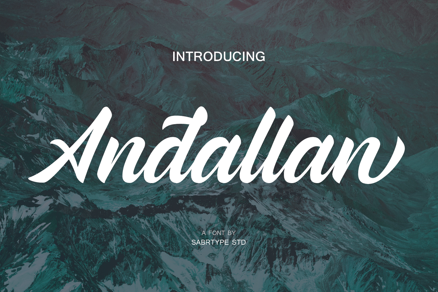 Print on Demand: Andallan Script & Handwritten Font By sabrcreative