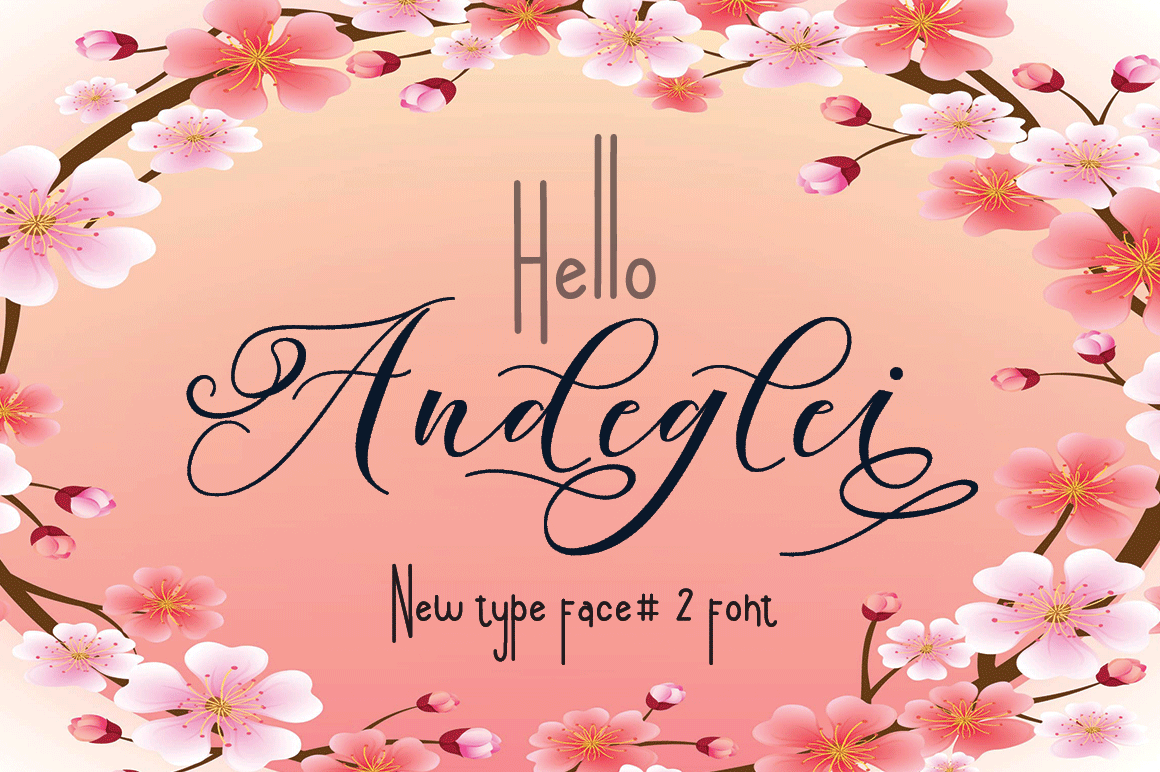 Andegli Font By halimantoni103