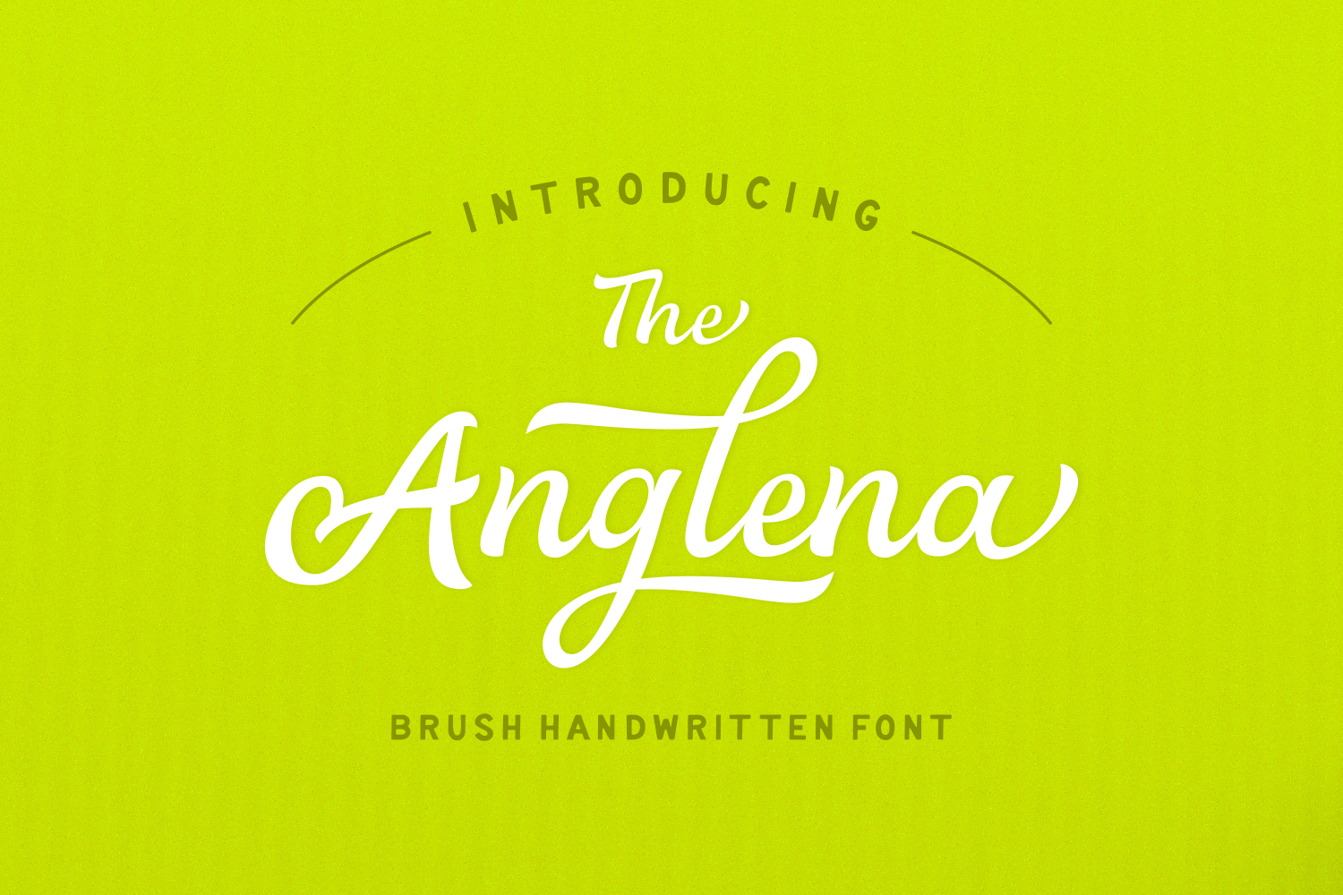Print on Demand: Anglena Script & Handwritten Font By Andrian Dehasta - Image 1