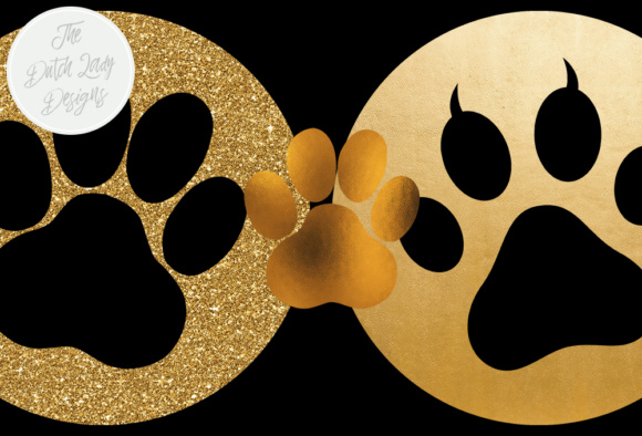 Animal Paws & Claws Clipart Set - Gold and Glitter Animal ...