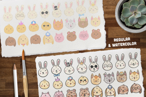 Print on Demand: Animalitos BUNDLE, +170 Elements! Graphic Illustrations By Latin Vibes - Image 4