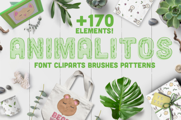 Print on Demand: Animalitos BUNDLE, +170 Elements! Graphic Illustrations By Latin Vibes - Image 1