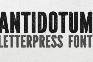 Print on Demand: Antidotum Display Font By grin3