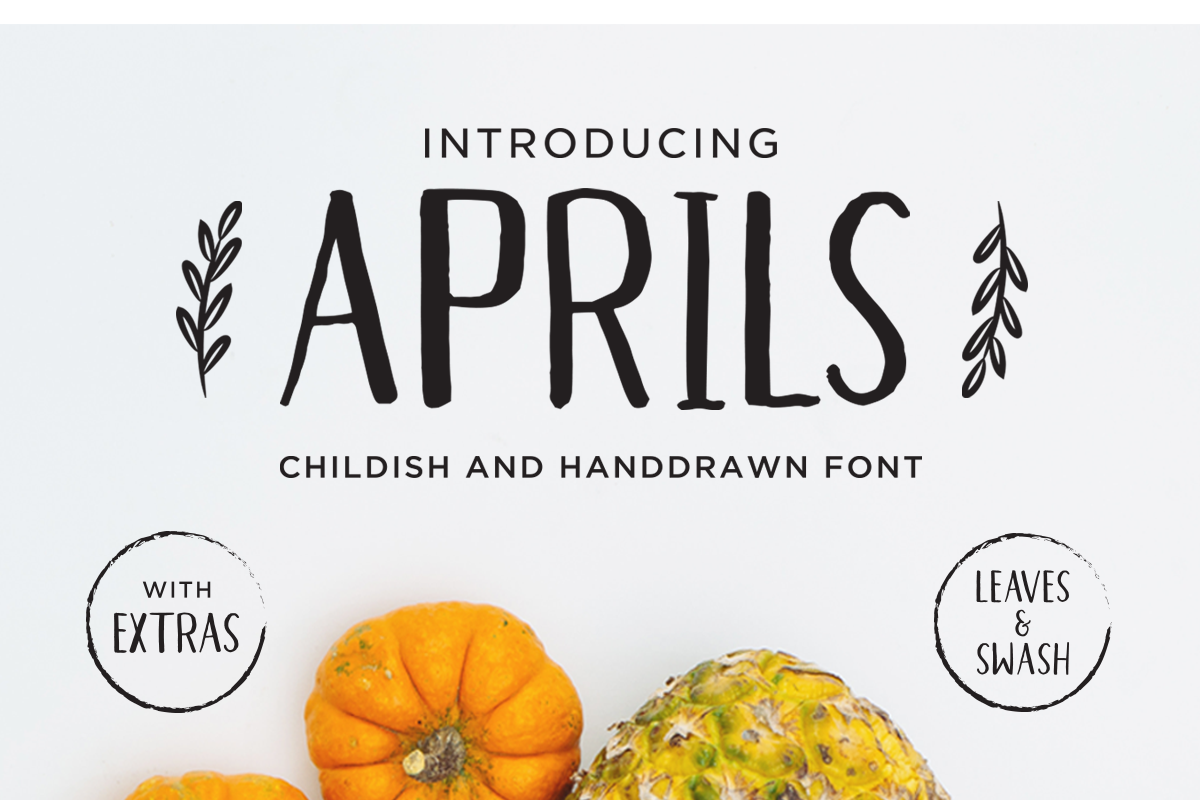 Print on Demand: Aprils Sans Serif Font By dharmas
