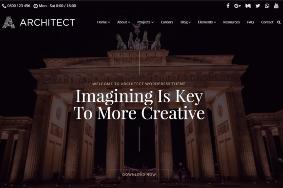 Architect WordPress Theme