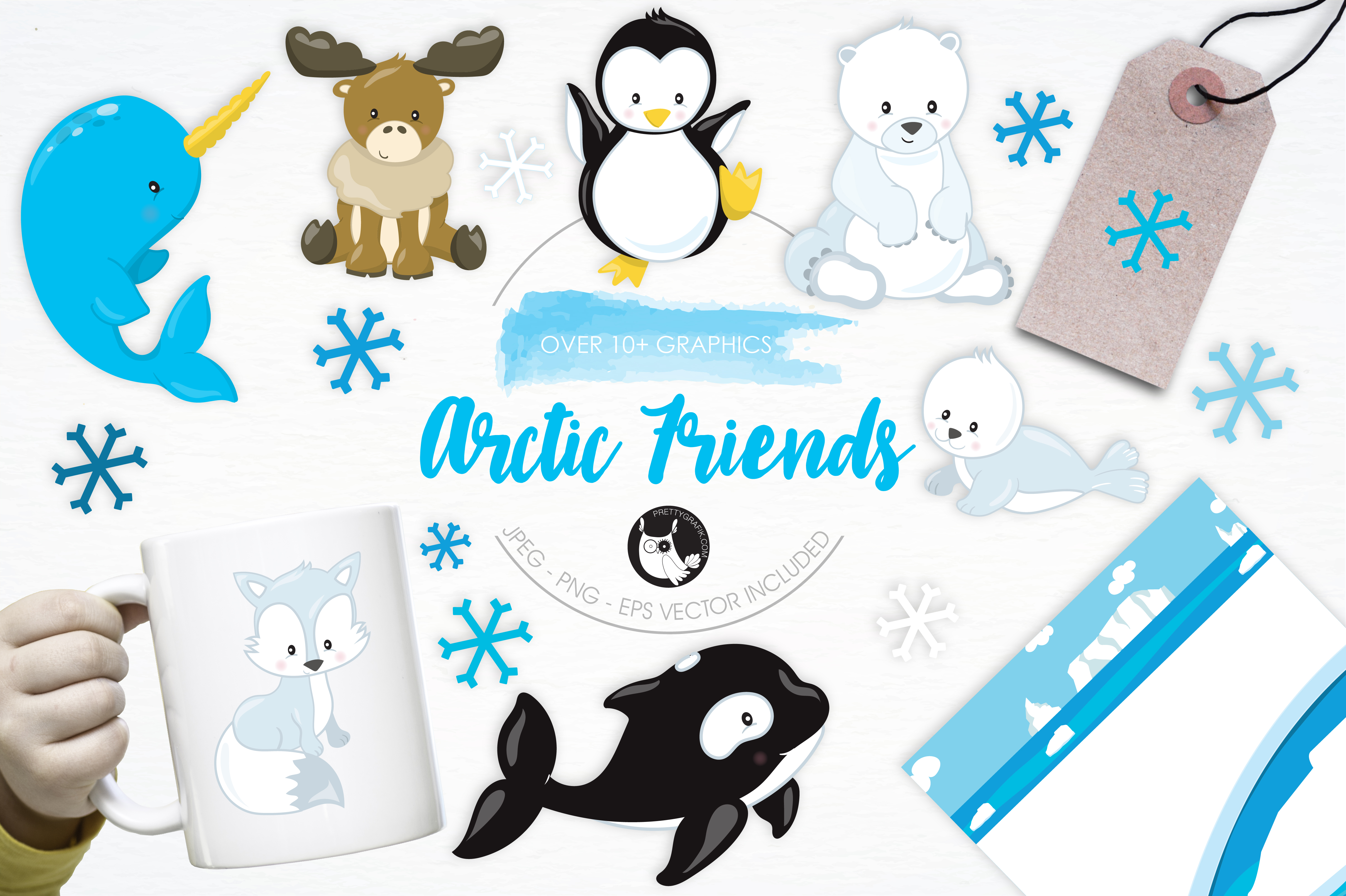 Print on Demand: Arctic Friends Graphic Illustrations By Prettygrafik