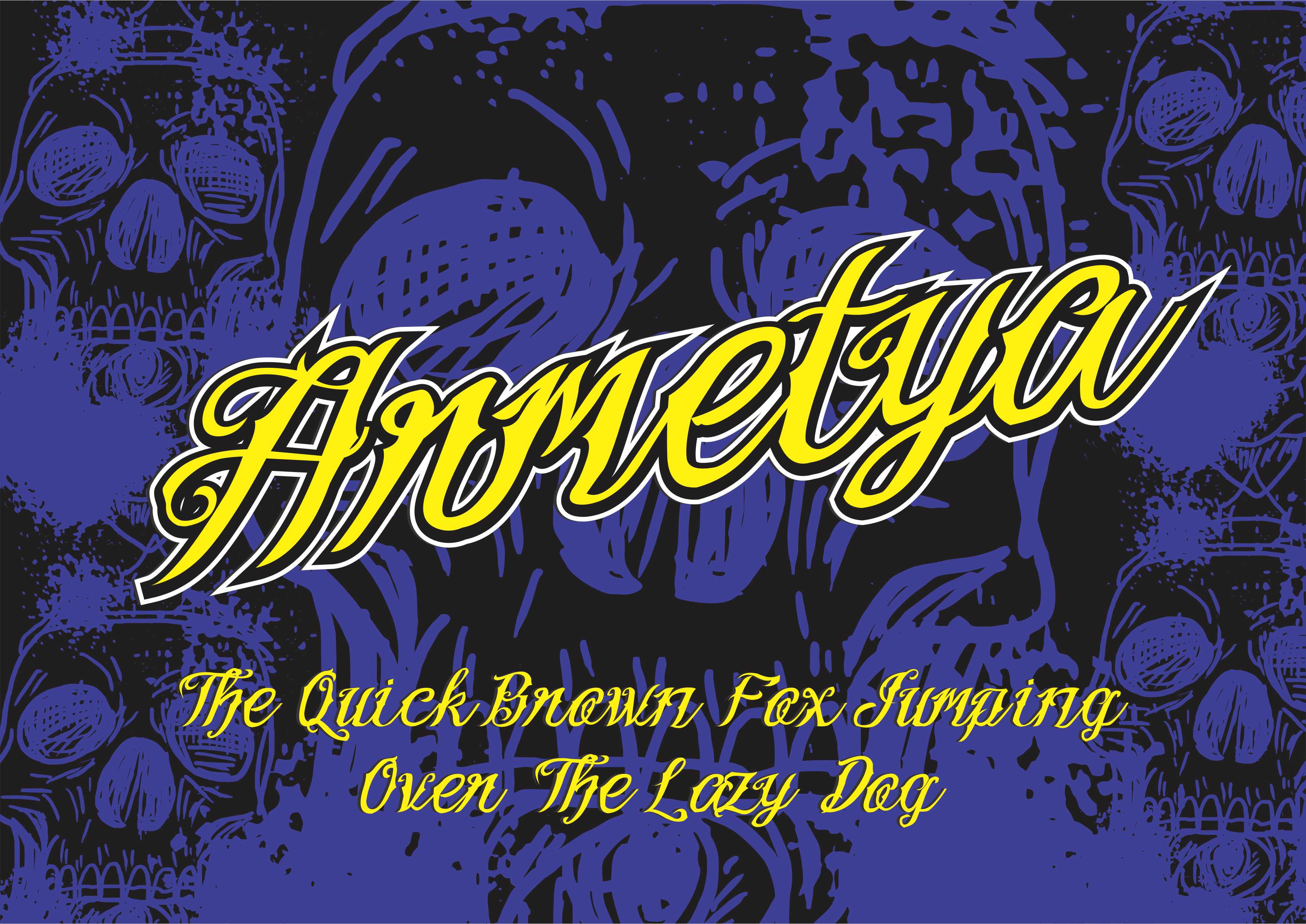 Print on Demand: Armetya Display Font By victoriant99