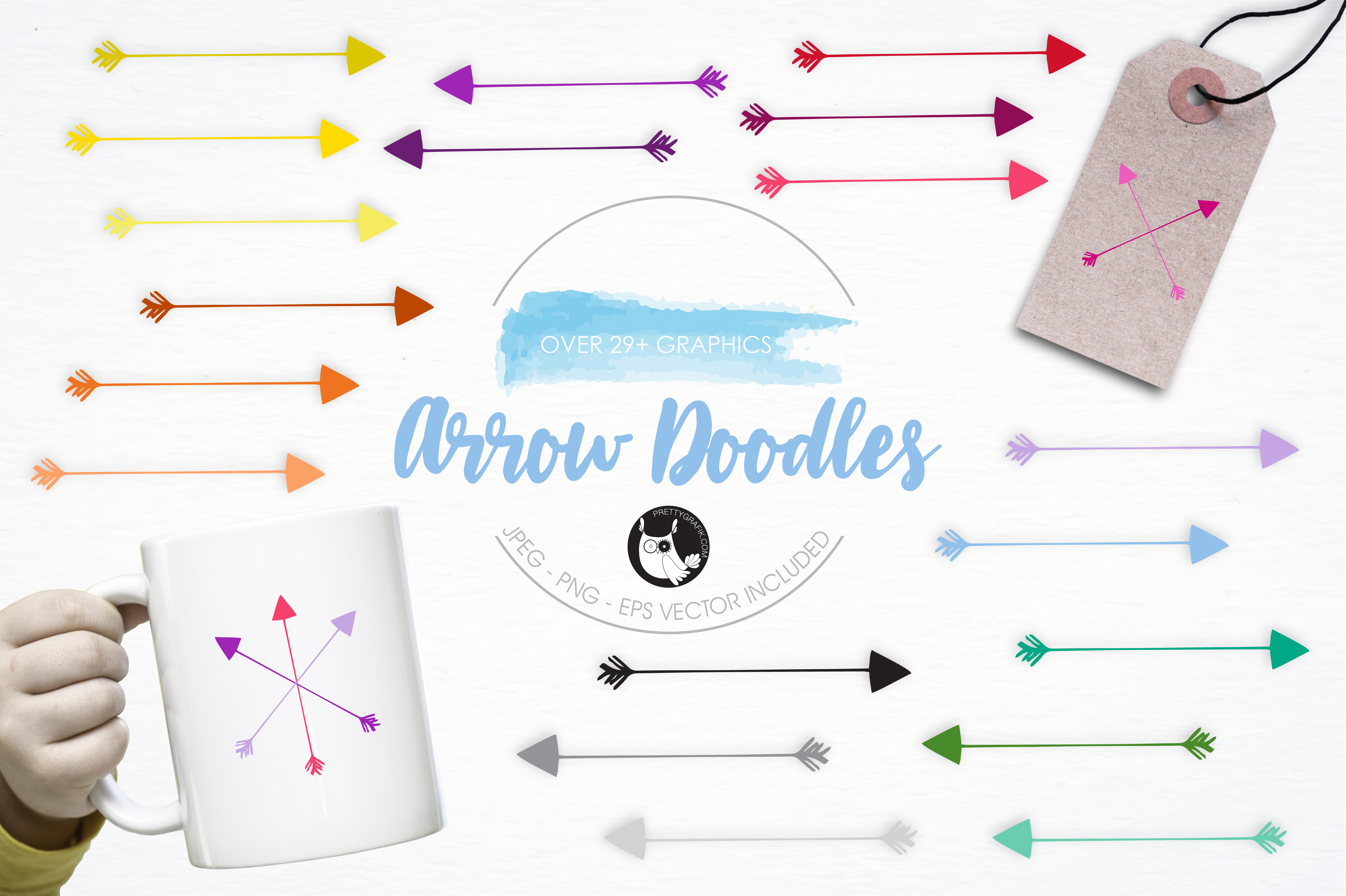Download Free Arrow Doodles Graphic By Prettygrafik Creative Fabrica for Cricut Explore, Silhouette and other cutting machines.