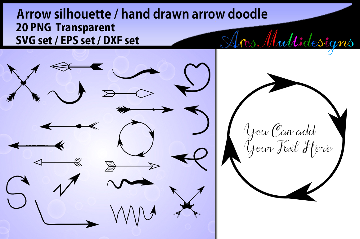 Download Free Arrows Silhouette Doodle Svg Graphic By Arcs Multidesigns for Cricut Explore, Silhouette and other cutting machines.