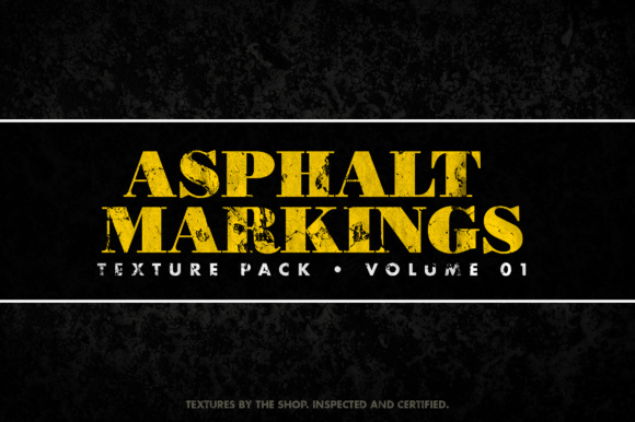 Asphalt Markings Textures Volume 01 Graphic Textures By theshopdesignstudio