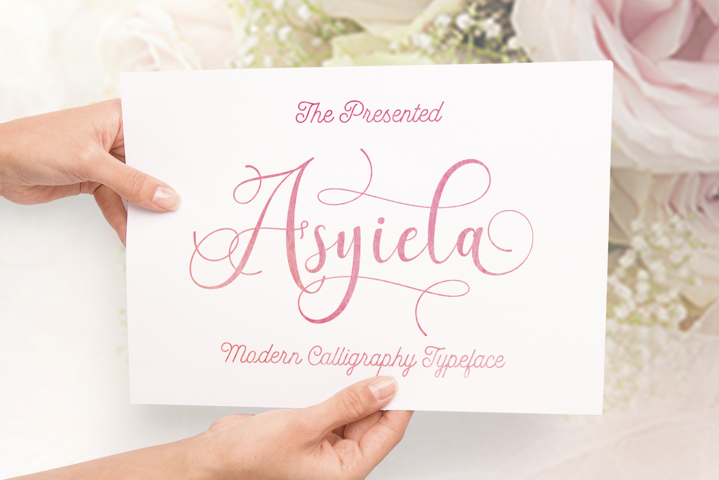 Print on Demand: Asyiela Script & Handwritten Font By Aqr Typeface - Image 1