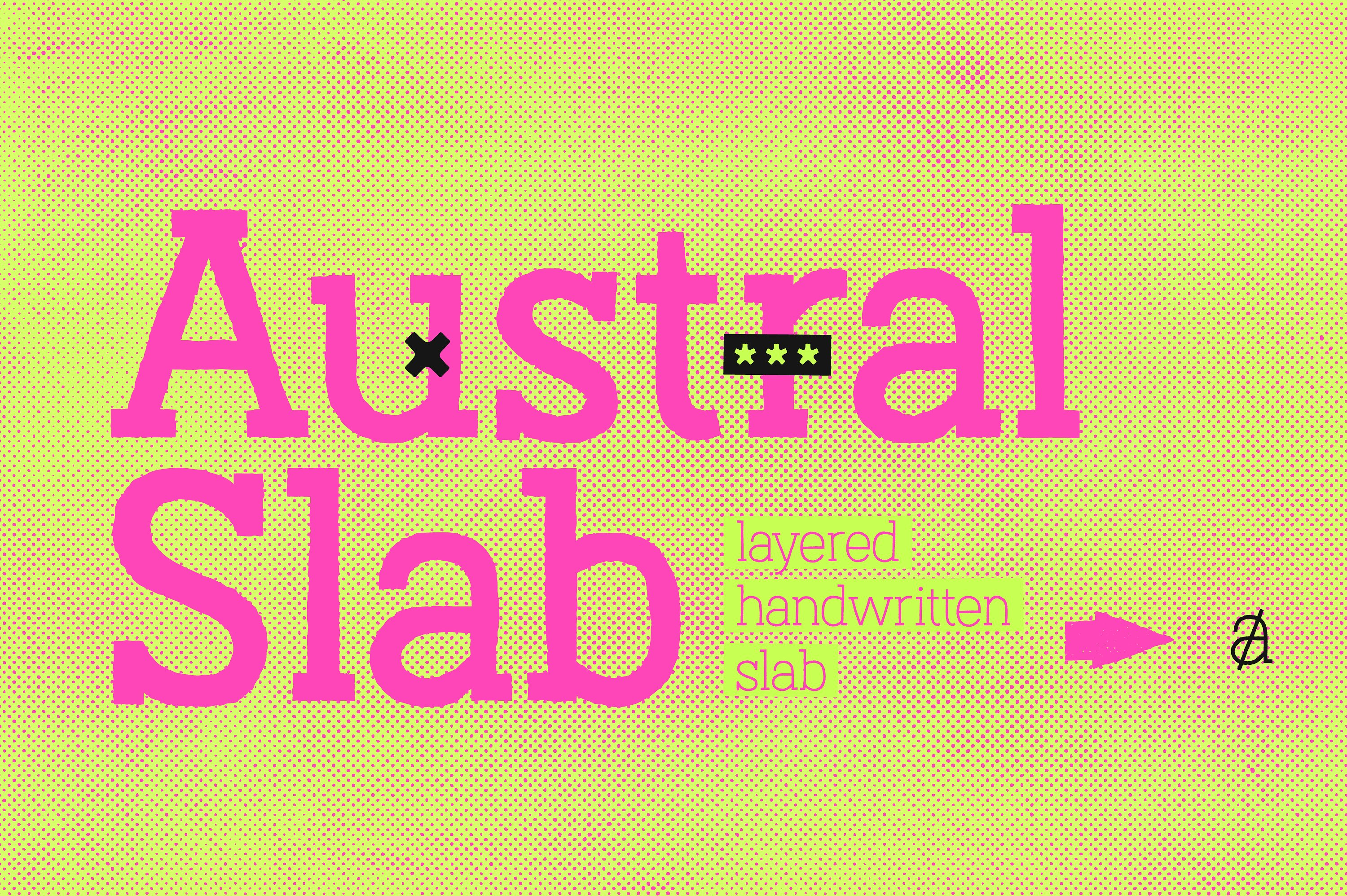 Austral Slab Display Font By antipixel
