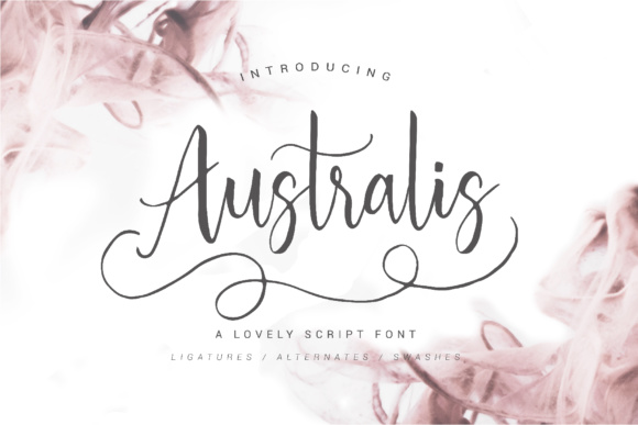 Print on Demand: Australis Script & Handwritten Font By NendesKombet