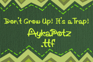 Print on Demand: AykaPotz Display Font By Rodi.de.Artist.com