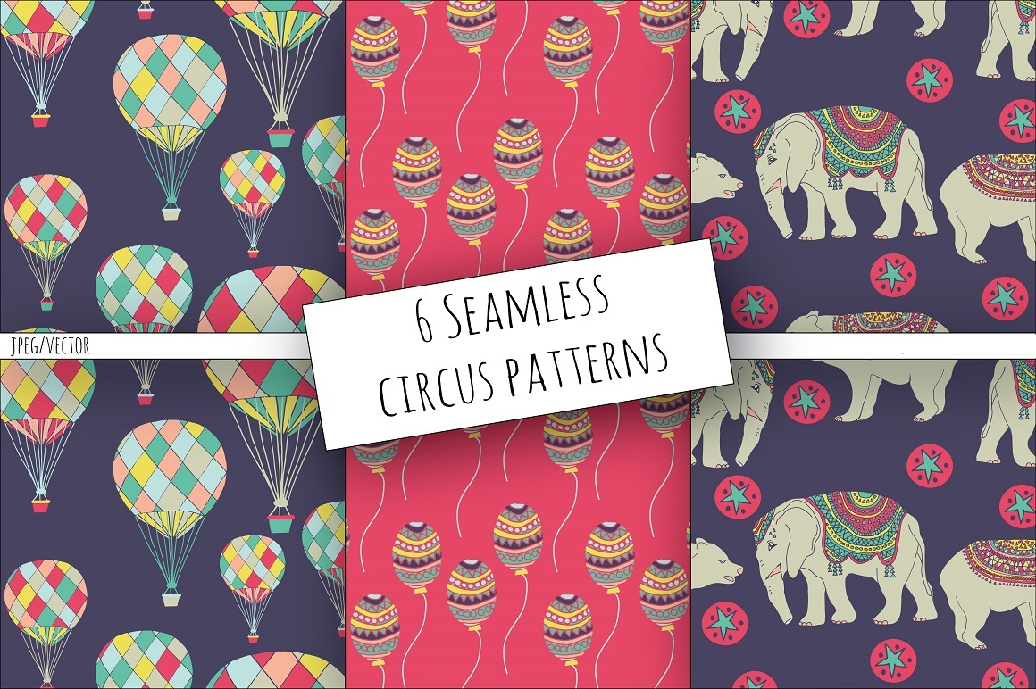 Print on Demand: Circus Clipart & Digital Paper Graphic Illustrations By illuztrate - Image 5