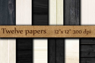 BLACK WHITE WOOD Papers Graphic Backgrounds By twelvepapers