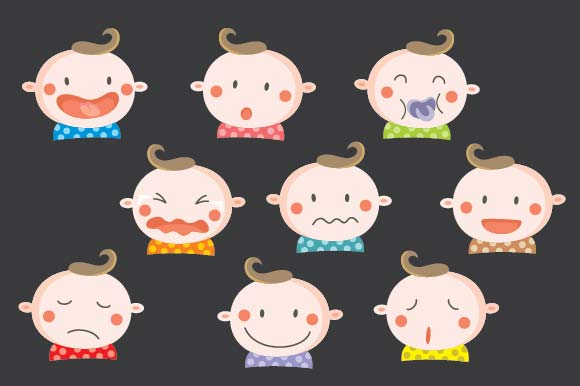 Baby Expression Collection Graphic Illustrations By emnazar2009 - Image 1