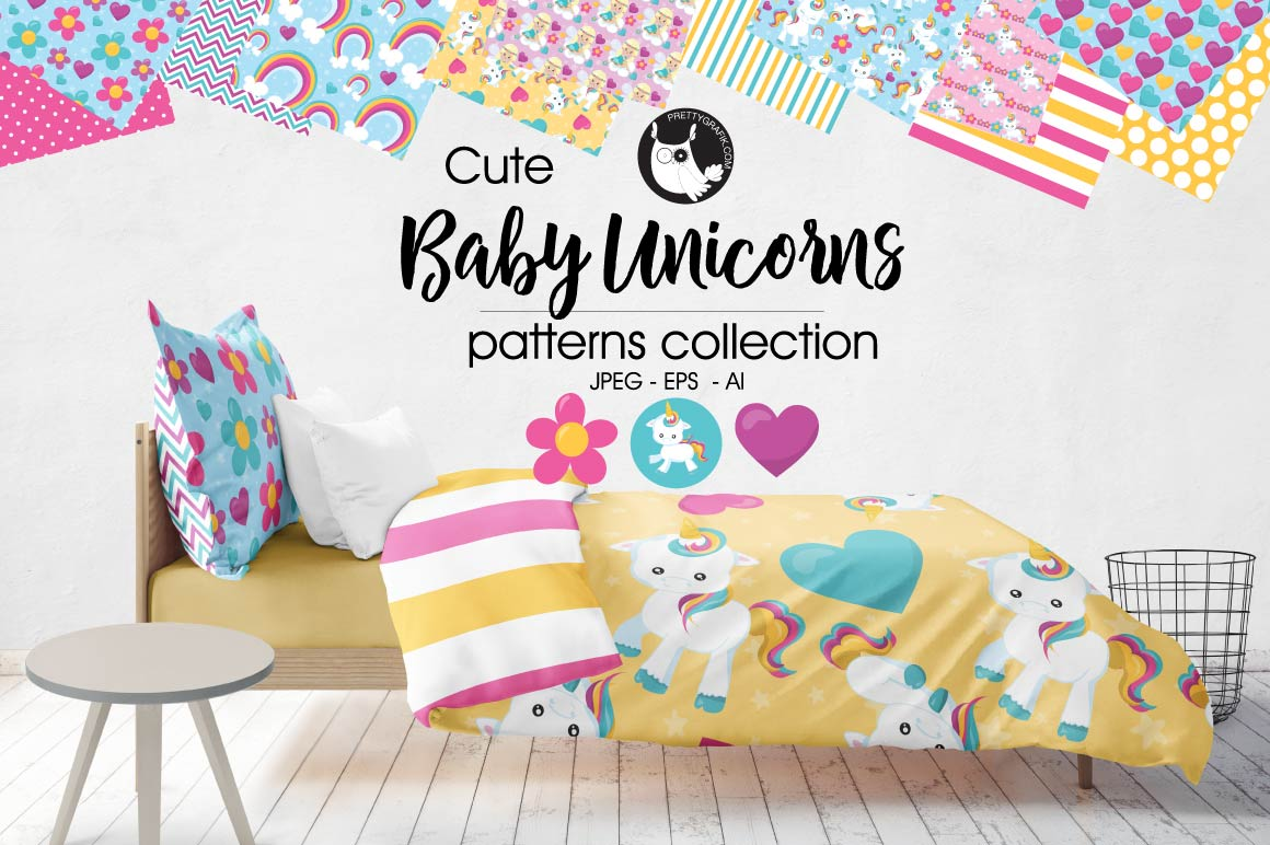 Download Free Unicorn Rainbow Colors Graphic By Prettygrafik Creative Fabrica for Cricut Explore, Silhouette and other cutting machines.