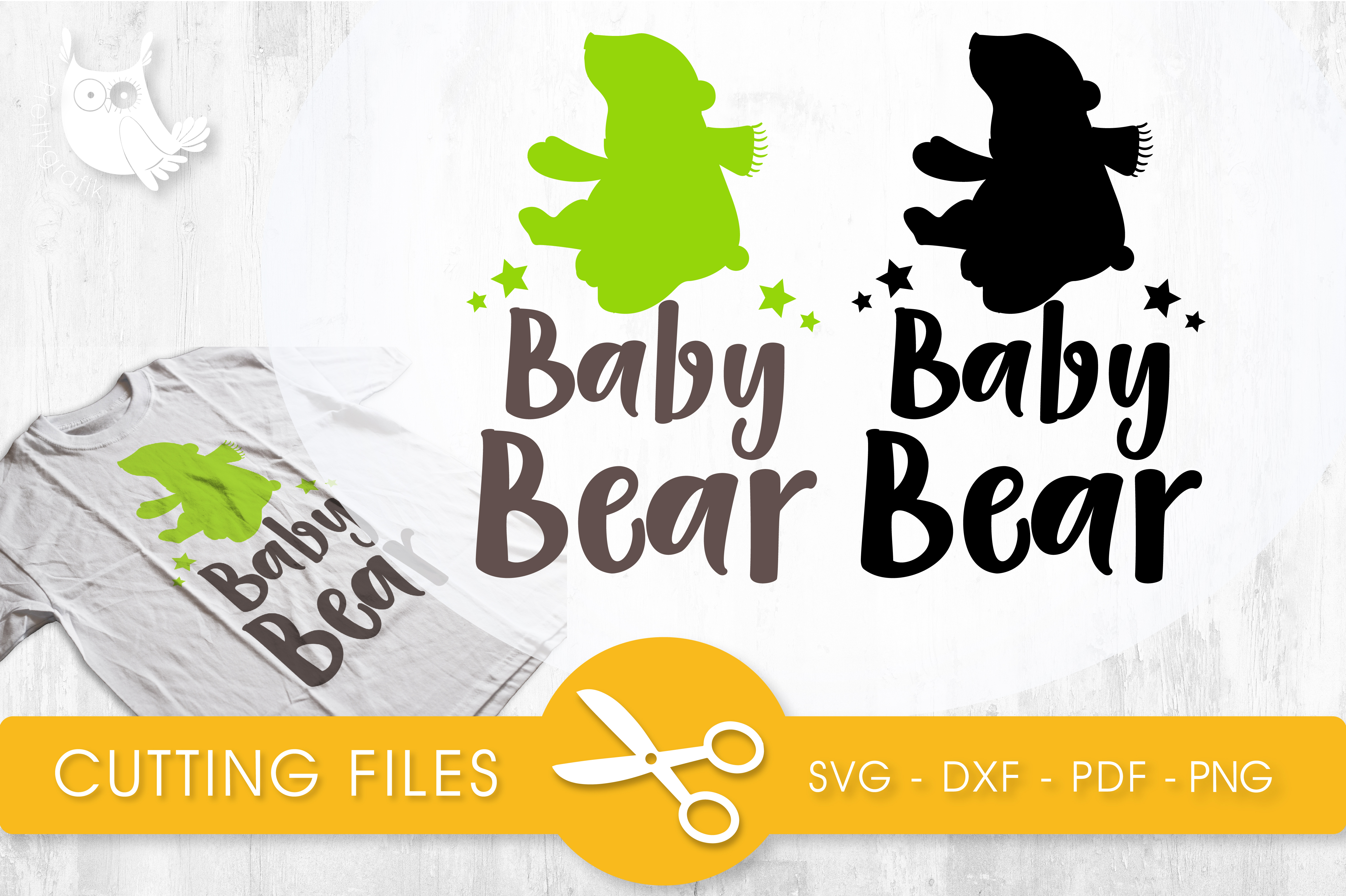 Baby Bear Graphic Crafts By PrettyCuttables