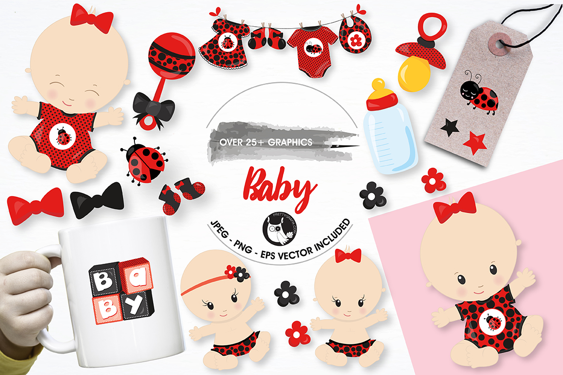 Print on Demand: Baby Graphic Illustrations By Prettygrafik