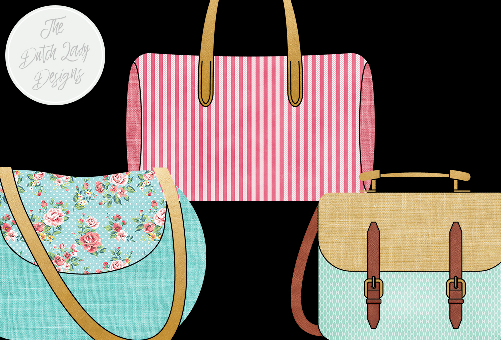 Print on Demand: Bag Collection Clipart Set - Fashion & Style - Shopping Bags - Label Clipart Graphic Illustrations By daphnepopuliers - Image 3