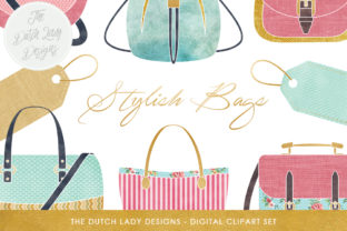 Bag Collection Clipart Set Fashion Style Shopping Bags Label Clipart Graphic By Daphnepopuliers Creative Fabrica