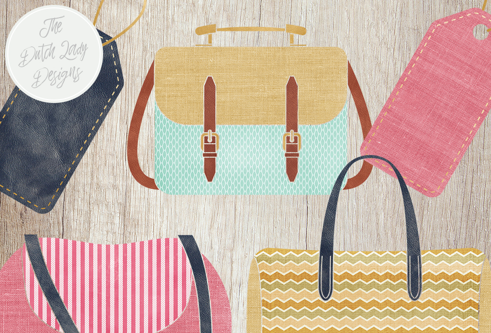 Print on Demand: Bag Collection Clipart Set - Fashion & Style - Shopping Bags - Label Clipart Graphic Illustrations By daphnepopuliers - Image 5