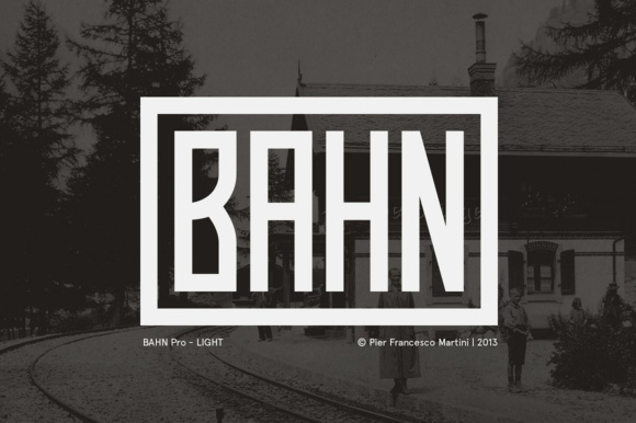 Print on Demand: Bahn Pro Light Display Font By pfmartini