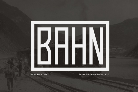 Print on Demand: Bahn Pro Thin Display Font By pfmartini