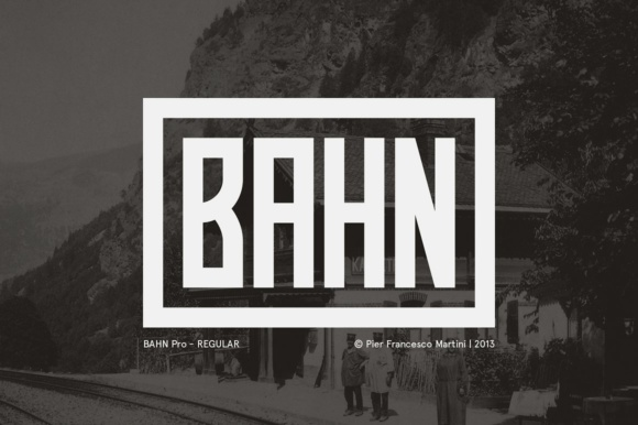 Print on Demand: Bahn Pro Display Font By pfmartini