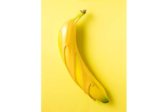 Banana over Gold Graphic Food & Drinks By Sasha_Brazhnik