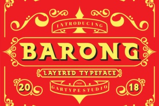 Print on Demand: Barong Display Font By GartypeStudio