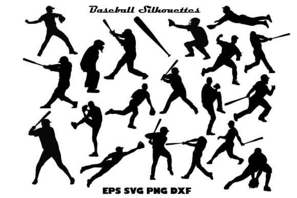 Baseball Silhouette SVG PNG DXF EPS Graphic Illustrations By twelvepapers