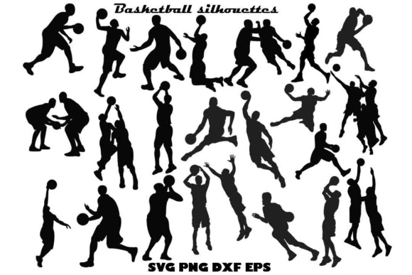 Basketball Silhouette SVG DXF PNF EPS Graphic Illustrations By twelvepapers