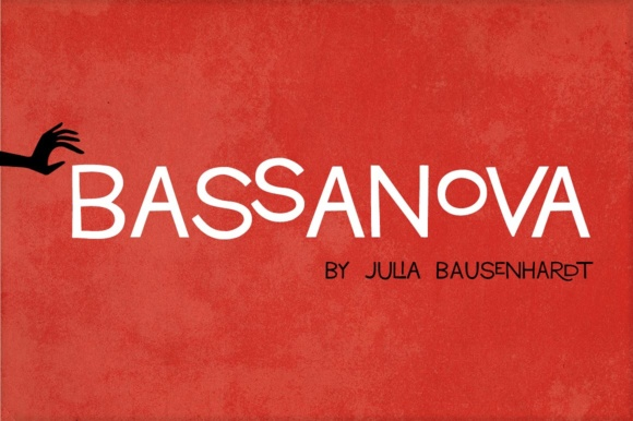 Print on Demand: Bassanova Display Font By juliabausenhardt