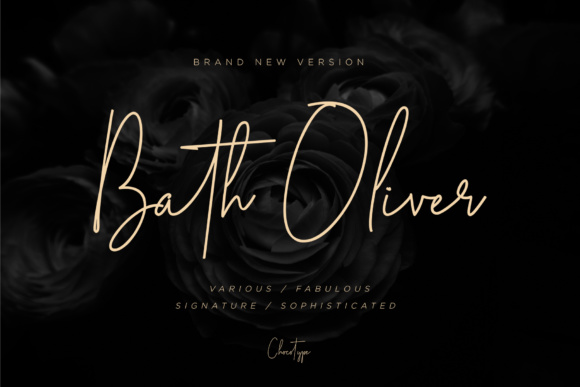 Print on Demand: Bath Oliver Script & Handwritten Font By Chocotype