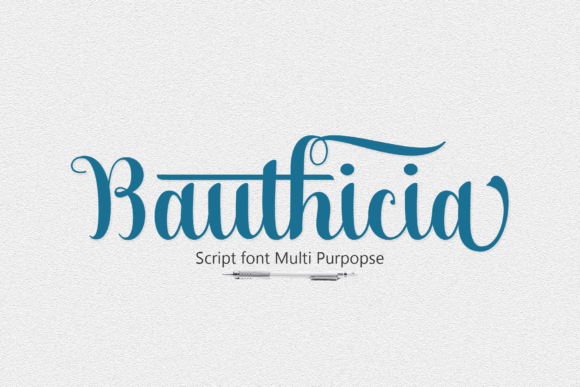 Print on Demand: Bauthicia Script & Handwritten Font By Juniors