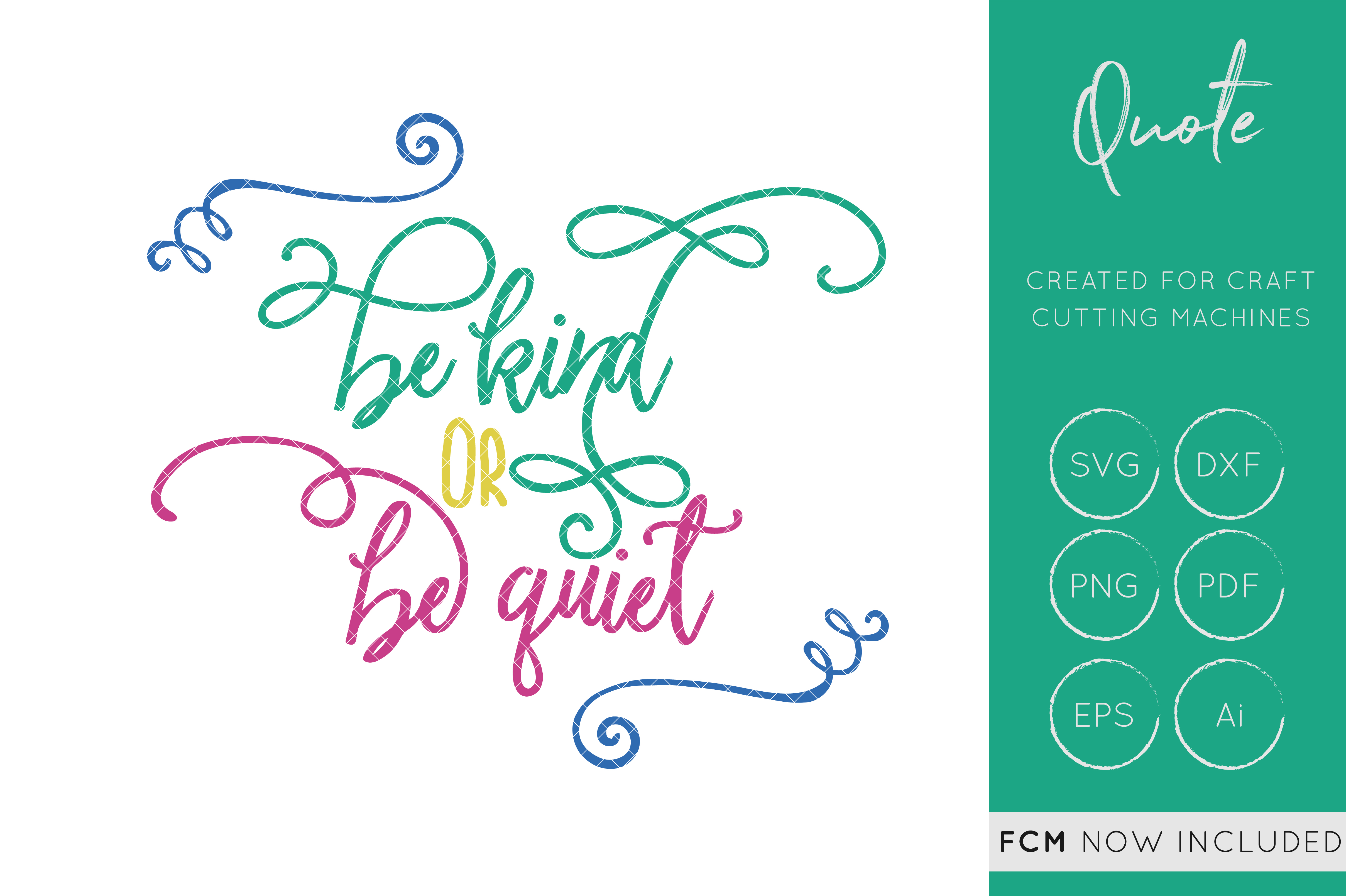 Download Free Be Kind Or Get Out Cut File Quote Graphic By Illuztrate for Cricut Explore, Silhouette and other cutting machines.