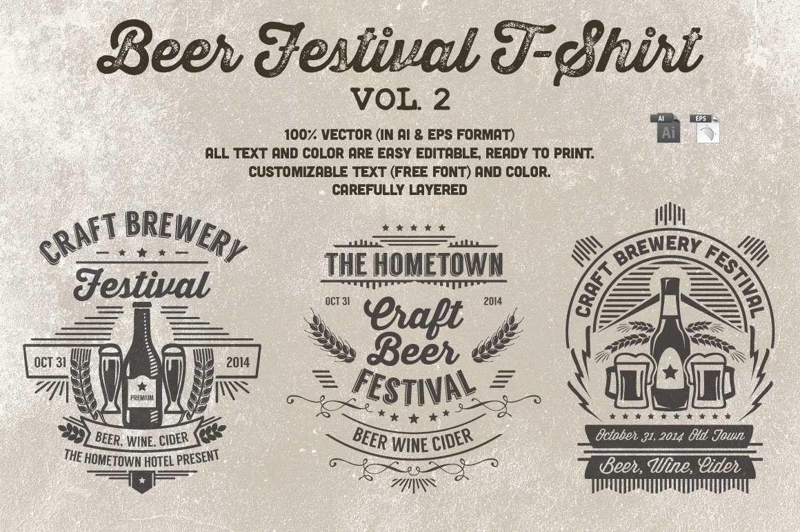 Print on Demand: Beer Festival T-Shirt Vol. 2 Graphic Print Templates By Tiar Prayoga