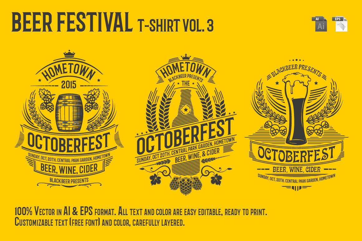 Beer Festival T-Shirt Vol. 3 Graphic By Tiar Prayoga Image 2