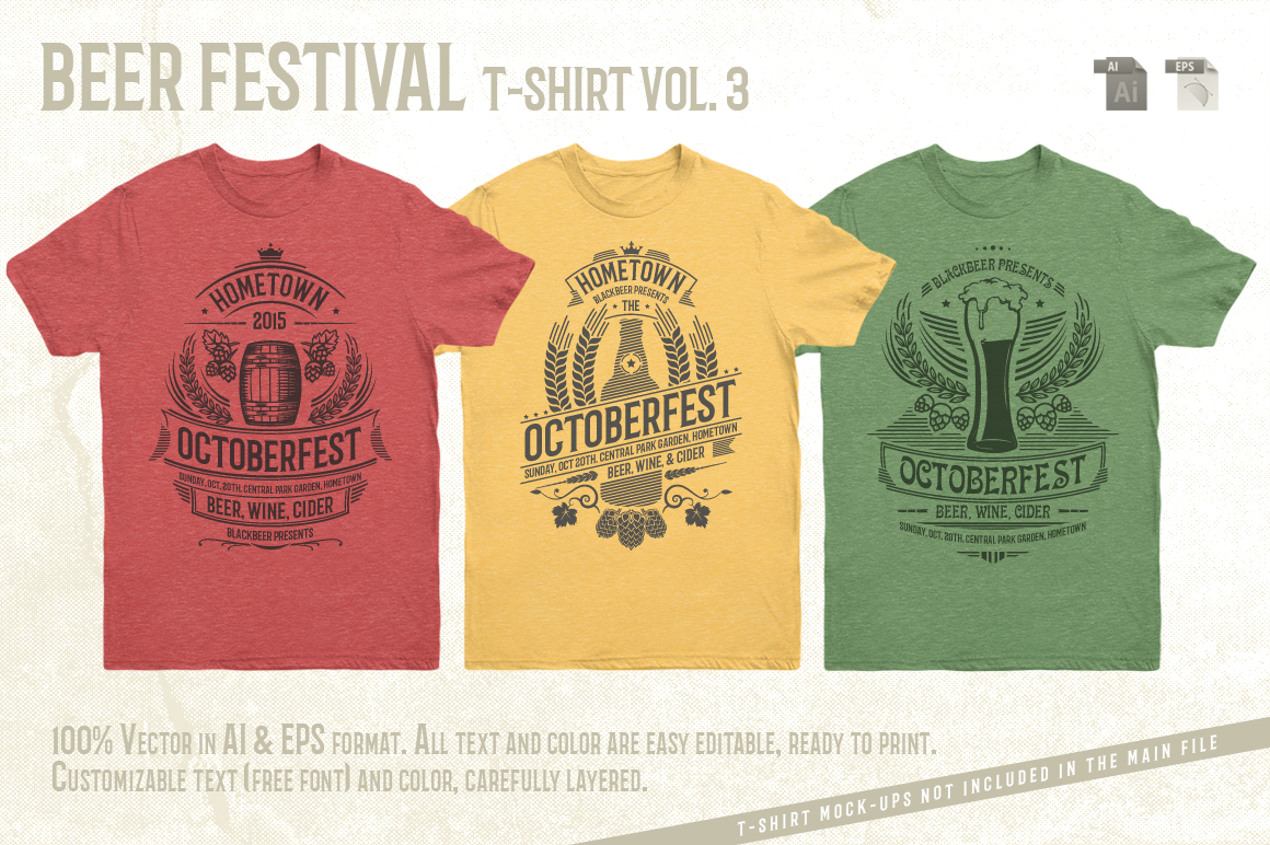Print on Demand: Beer Festival T-Shirt Vol. 3 Graphic Print Templates By Tiar Prayoga