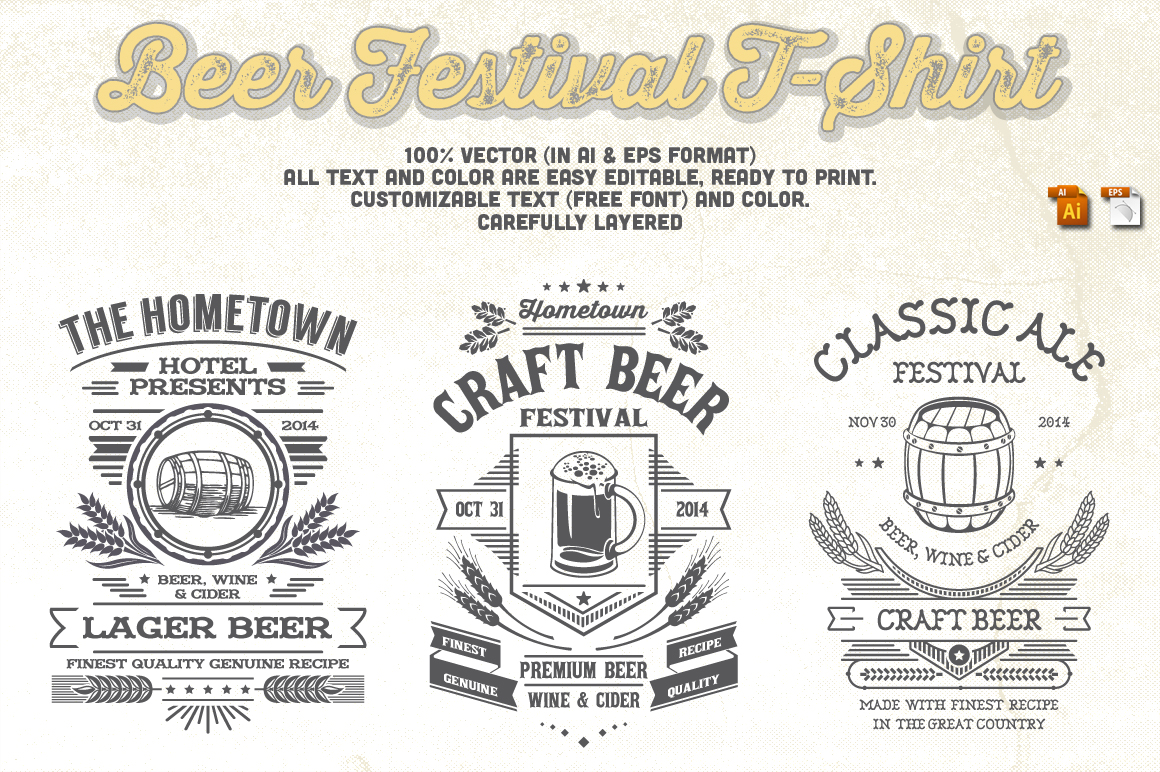 Print on Demand: Beer Festival T-Shirt Graphic Print Templates By Tiar Prayoga